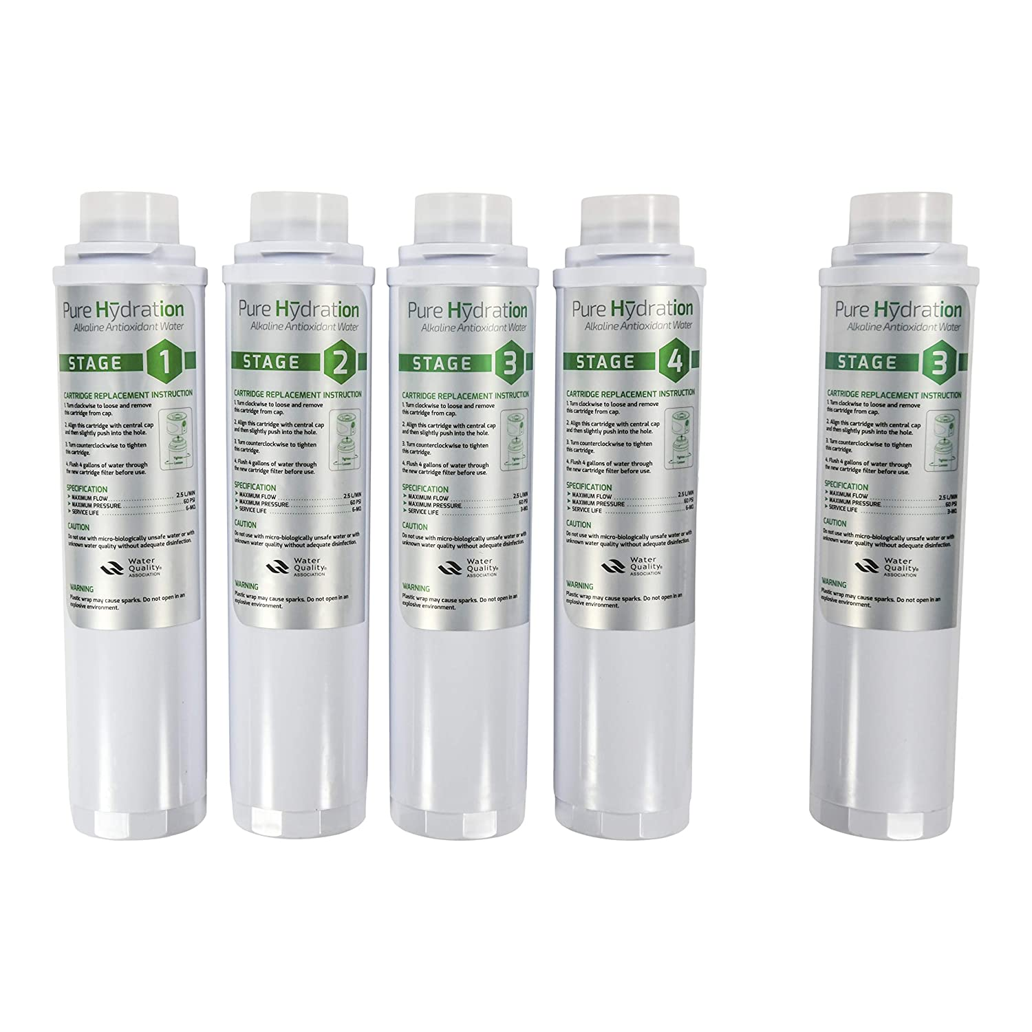 Cosan/USA Pure Hydration Next Generation Water Ionizer Replacement Cartridges