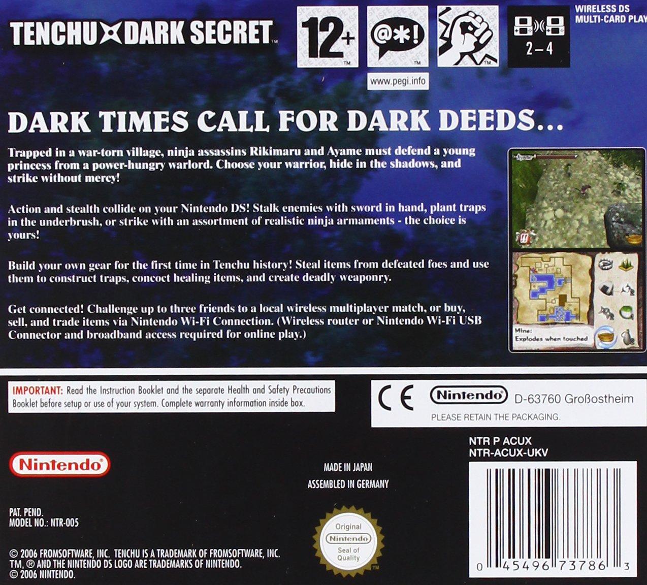 Tenchu: Dark Secret (Nintendo DS) [Importación inglesa ...