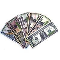 Educational Play Money Prop Money Two-Sided Print 72 Bills Real Looking Fake Money Monopoly