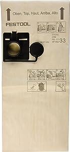 Festool 456871 Cloth Filter Bag for Ct 33 Model, 5-Pack