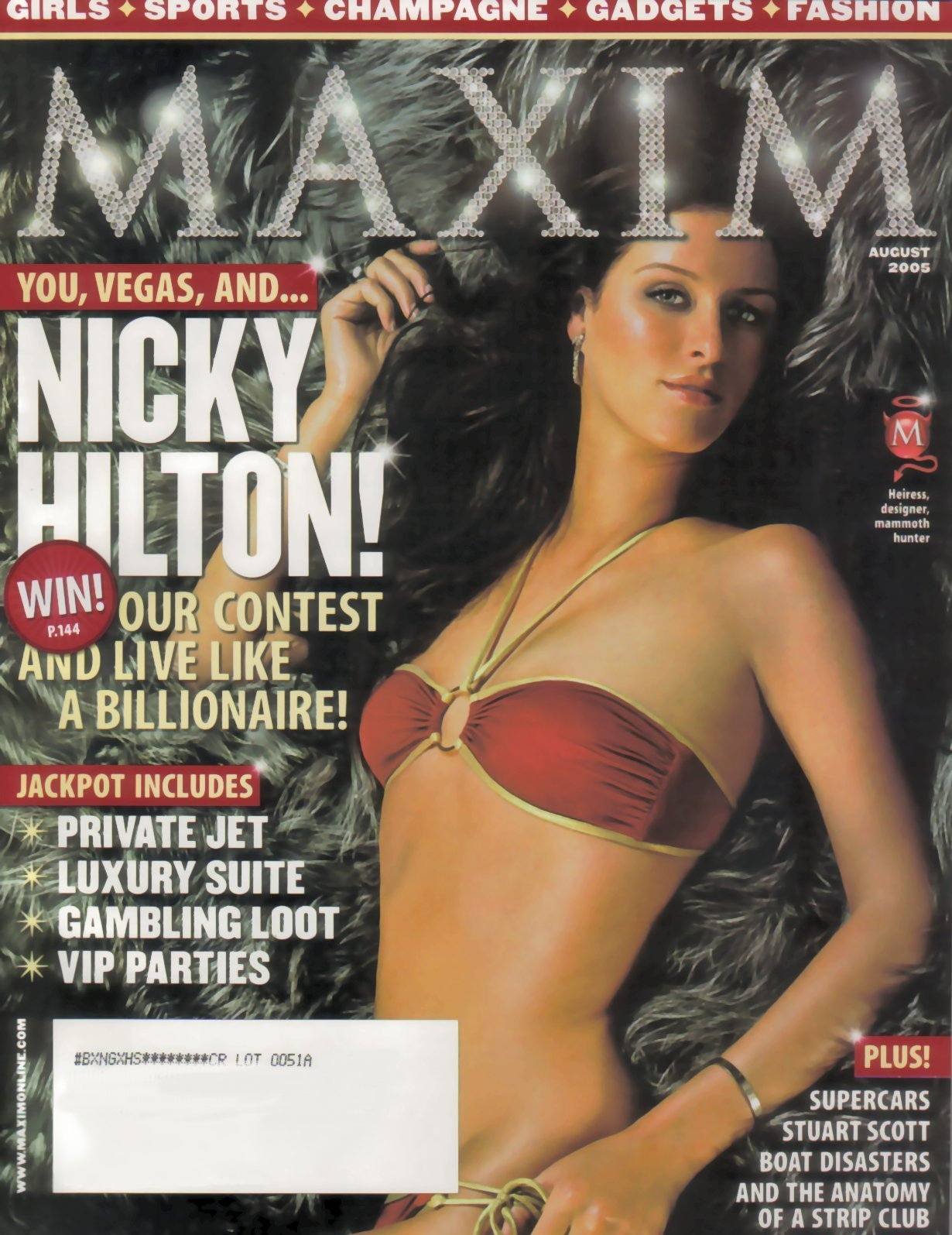Maxim Magazine Nicky Hilton August 2005 Issue ebook
