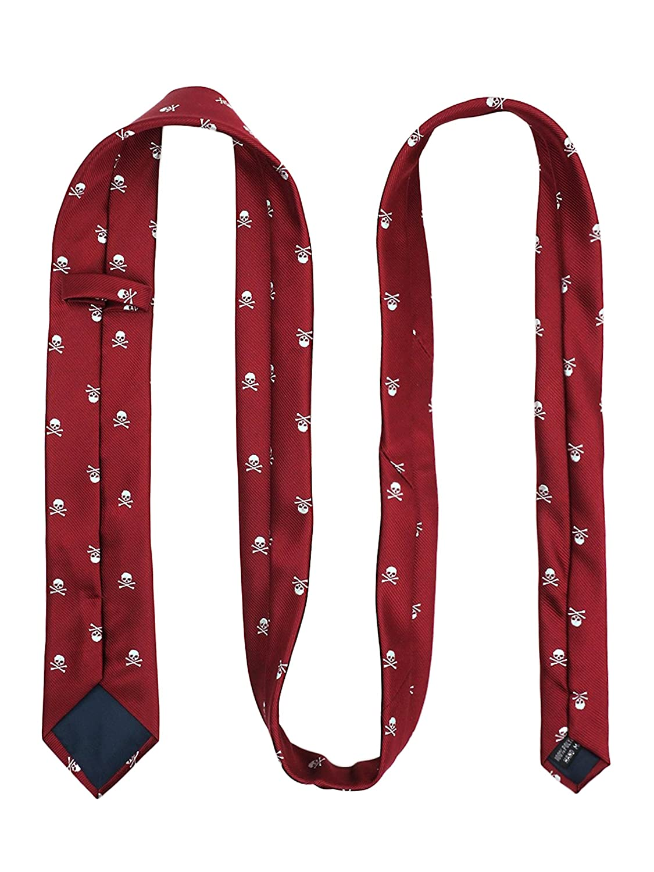 WANYING Totenkopf Pattern Herren 6cm Krawatte /& Gebundene Fliege /& Einstecktuch 3 in 1 Set Yuppie Trendmode Casual Cool