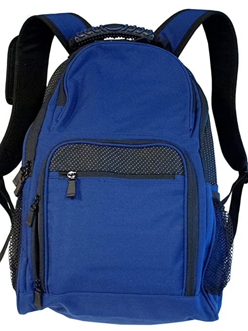 6a727bb77 Image Unavailable. Image not available for. Color: Black and Royal Blue  Backpack ...