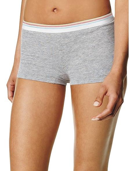 fe97d14c20c Amazon.com: Hanes Women's Cotton Boy Brief Panties 6-Pack: Clothing