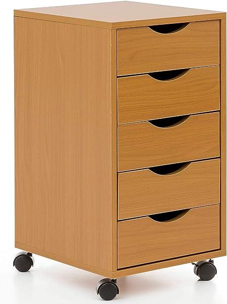 Cassettiera Scrivania Con Ruote.Ks Furniture Wl5 924 Cassettiera Da Scrivania Con Ruote In