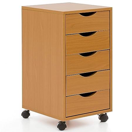 Cassettiera Da Scrivania Con Ruote.Ks Furniture Wl5 924 Cassettiera Da Scrivania Con Ruote In