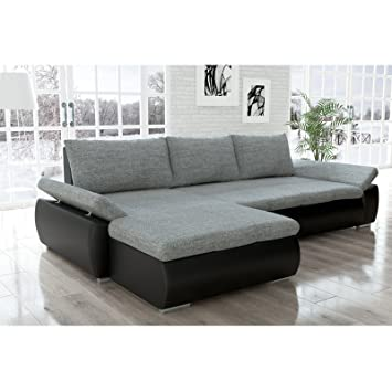 l form sofa big sofa lform stoff grau with l form sofa with its modern form extradeep seat and. Black Bedroom Furniture Sets. Home Design Ideas