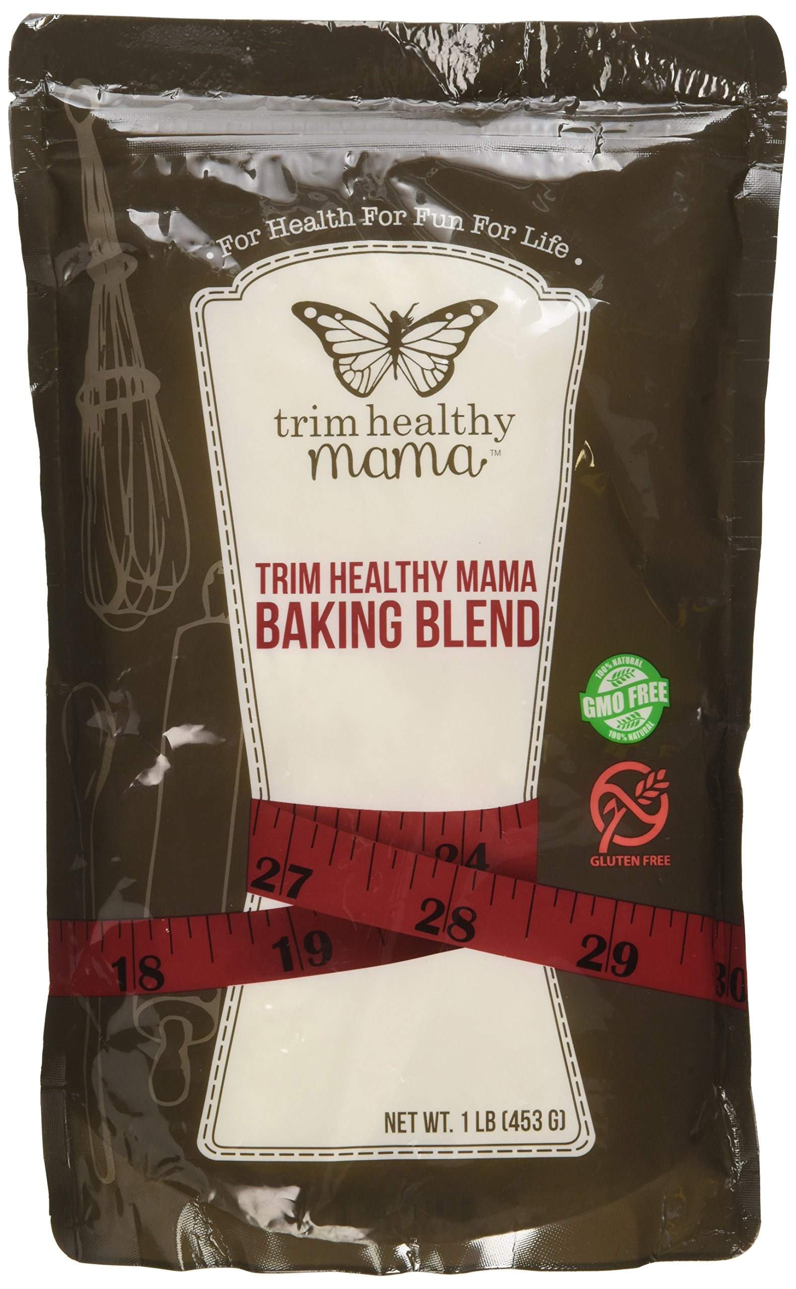 Trim Healthy Mama Gluten Free, Low Glycemic, High Fiber Baking Blend 1 Lb