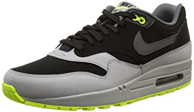 the latest b4ccc 9070e Nike Air Max 1 Ltr, Men s Trainers, Black Dark Grey Silver Volt, 6 UK   Amazon.co.uk  Shoes   Bags