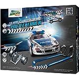 SIMM Spielwaren Darda 50240 - Darda Rennbahn Police Track Fahrbahnlänge, ca. 3 m mit Porsche 911 GT3 Polizei