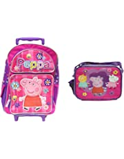 Peppa Pig School Rolling Backpack and Lunch bag Combo