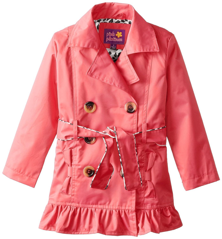 f300d2ab9 Amazon.com  Pink Platinum Girls  Double Leopard Jacket  Clothing