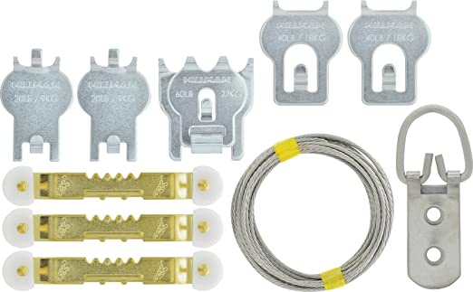85LB Limit HIGH /& MIGHTY 515309 Tool Free Picture Hanger 1 Piece Silver
