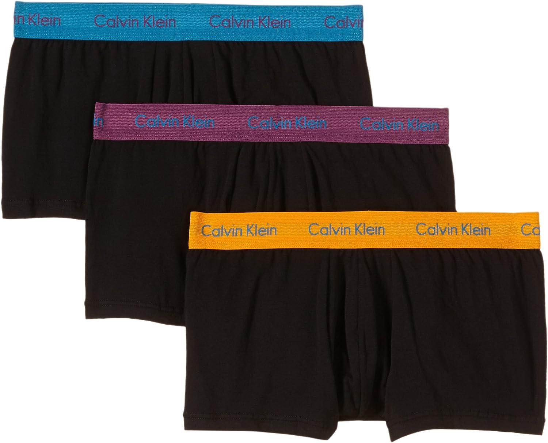 Calvin Klein Cotton Stretch Low Rise Trunk, Bóxers para Hombre ...