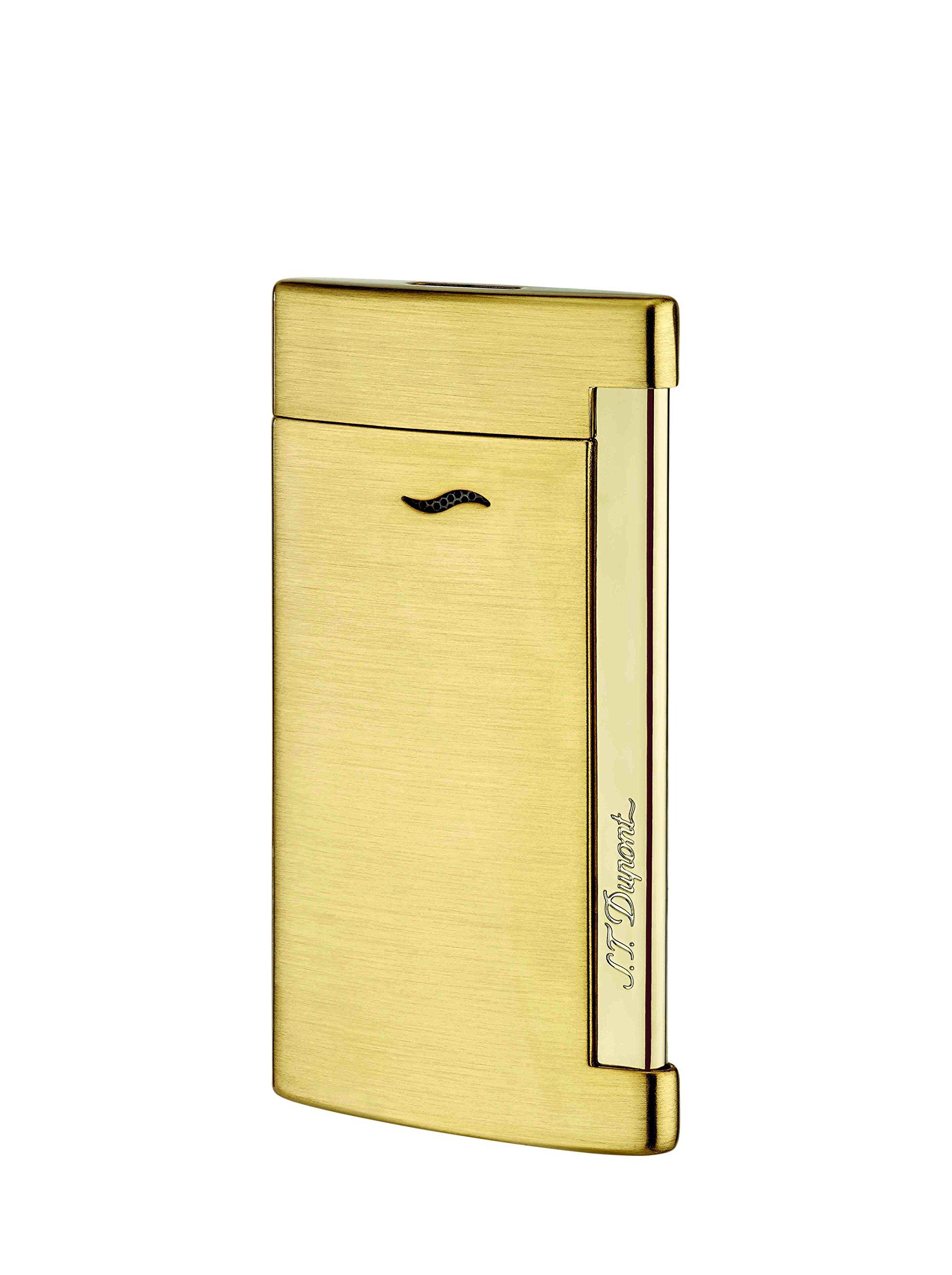 S.T. Dupont SLIM 7 golden brushed Jet Lighter / 027711