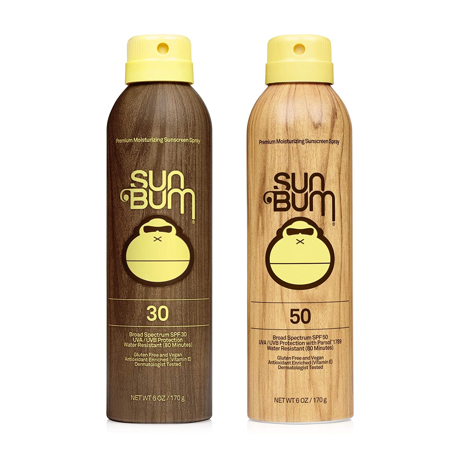 Sun Bum Sun Bum Original Spf 30 and 50 Sunscreen Spray Vegan and Reef Friendly (octinoxate & Oxybenzone Free) Broad Spectrum Moisturizing Uva/uvb Sunscreen With Vitamin E 2 Pack
