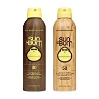 Sun Bum Sun Bum Original Spf 30 and 50 Sunscreen Spray Vegan and Reef Friendly (octinoxate & Oxybenzone Free) Broad Spectrum Moisturizing Uva/uvb Sunscreen With Vitamin E 2 Pack