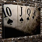 COLORSFORU Wall Art Painting Poker Prints On Canvas The Picture Landscape Pictures Oil For Home Modern Decoration Print Decor For Living Room