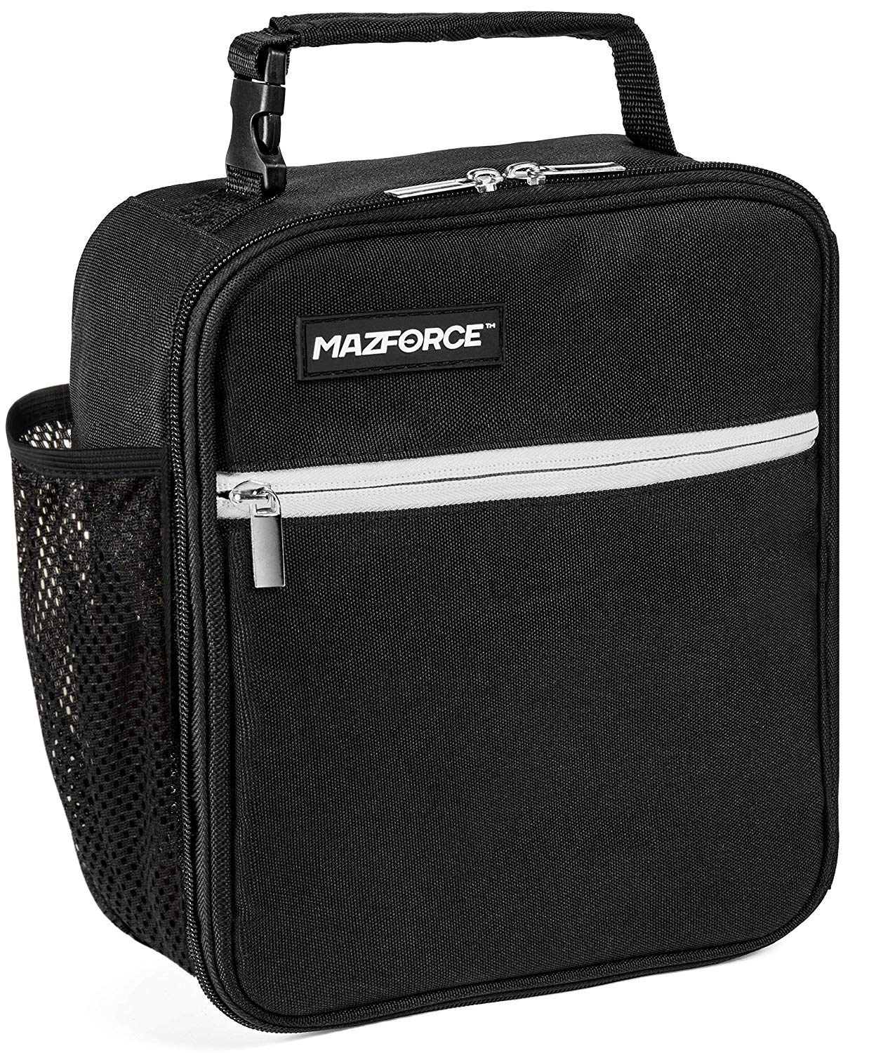 91466e1df80a MAZFORCE Original Lunch Box Insulated Lunch Bag - Tough & Spacious Adult  Lunchbox to Seize Your Day (Force Black - Lunch Bags Designed in California  ...