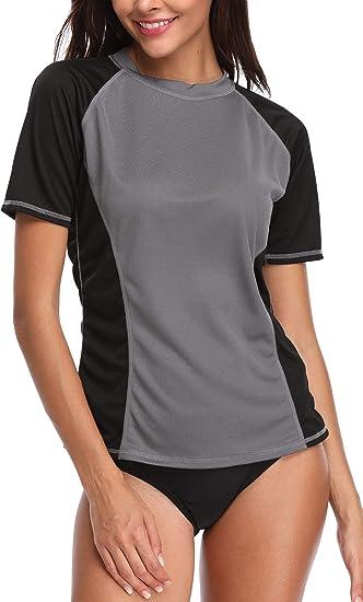 Anwell Women/'s  Swim Shirt Rashguard