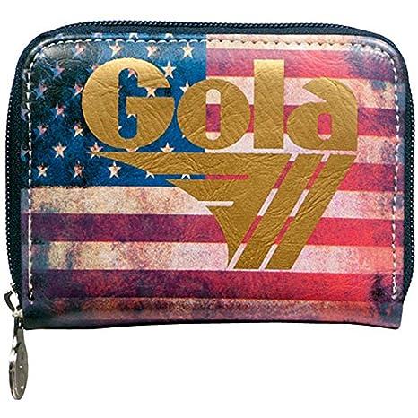 a9091a518d Portafoglio GOLA Davis CUB458 Vintage USA chiusura cerniera: Amazon ...