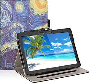 Transwon Case for VANKYO Matrixpad Z4 Pro 10.1 Inch Tablet, Yi-018 Tablet, LLLtrade 10 Inch Android Google Tablet, LLLccorp 10 Inch Android WiFi Tablet, AOYODKG A22, MEBERRY Tablet 10 - Starry Night