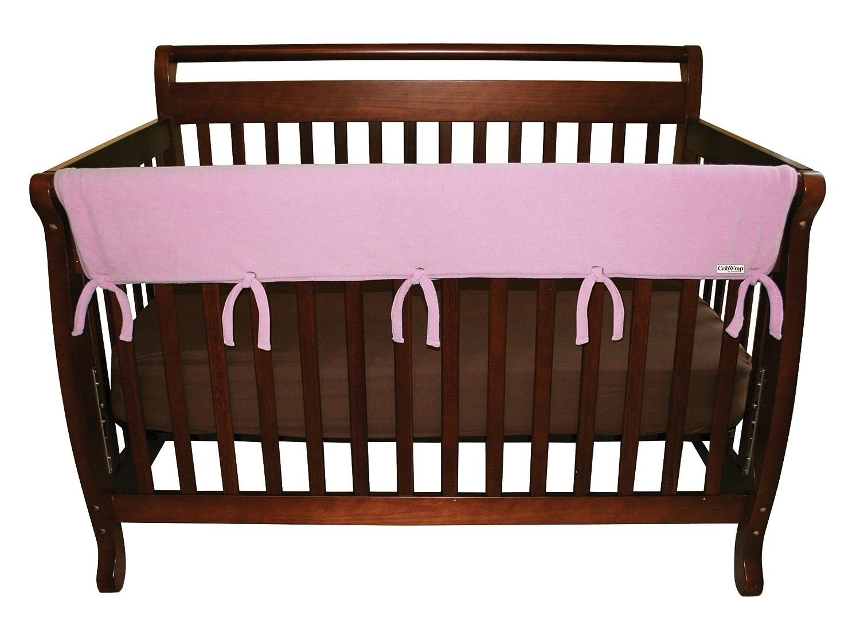 CribWrap Convertible Crib Front Rail Pink Fleece Set of 2 by Trend Lab   B004NPXNQ6