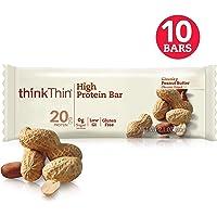 Think Thin Barras de Proteína, Chunky Peanut Butter, 60 g