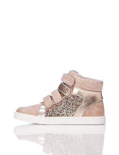 RED WAGON Mädchen Sneaker mit Metallic-Look, Pink (Pink), 34.5 EU
