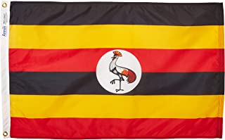 product image for Annin Flagmakers Model 198677 Uganda Flag Nylon SolarGuard NYL-Glo, 2x3 ft, 100% Made in USA to Official United Nations Design Specifications