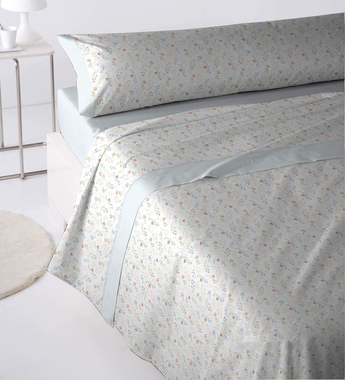 Cabetex Home - Juego de sábanas Estampadas - 3 Piezas - polialgodón - Mod. TREYO (Gris, 135_x_190/200 cm): Amazon.es: Hogar