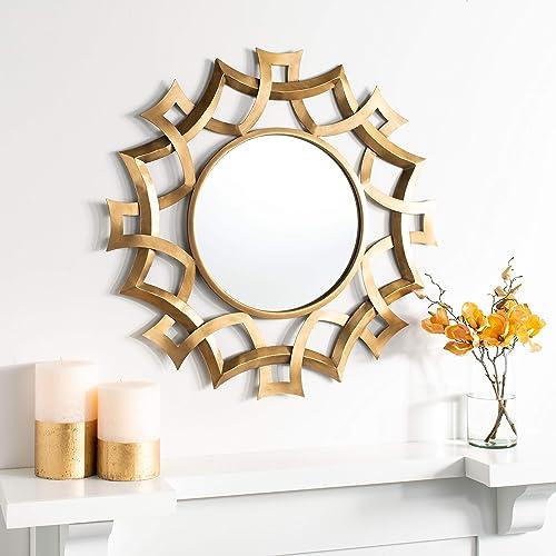 Safavieh Home Audra Multi Sunburst 35-inch Decorative Accent Mirror, Multicolored