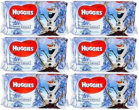6 x Huggies Toallitas de Disney Frozen – 56 unidades