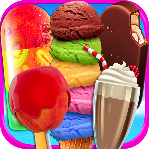 rozen Ice Cream Bars, Popsicles, Snow Cones, Candy Apples, Milkshakes, Ice Cream Truck Games FREE ()
