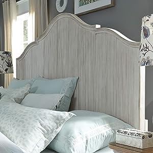 Liberty Furniture INDUSTRIES Farmhouse Reimagined King Panel Headboard, W79 x D3 x H70, White