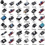 Aoicrie 37 Sensors Assortment Kit.37 Sensor Starter Kit for Arduino Raspberry pi Sensor kit 37in1 Robot Projects Starter Kits for Arduino, Raspberry pi 4 Pi 3,3B+,RPi A,Model B,B+,2