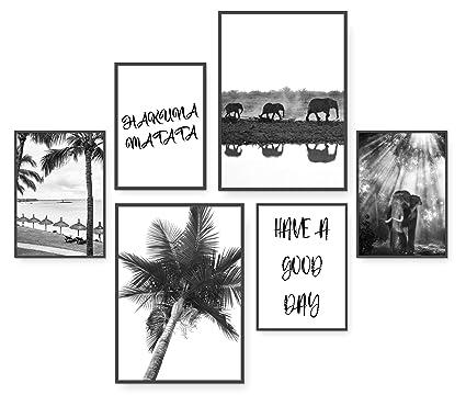 Hakuna Matata Stilvolles Premium Poster Set 6 Harmonisch