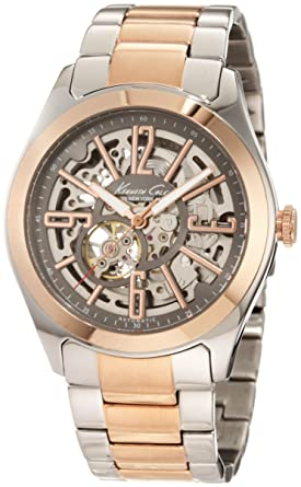 amazon com kenneth cole new york men s kc9052 automatic rose gold kenneth cole new york men s kc9052 automatic rose gold automatic bracelet watch