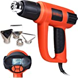 DuRyte 1,500-watt LCD Display & Electronic Temperature Control Heat Gun with 4 Nozzles