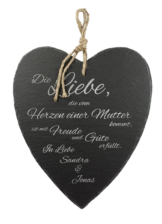 Amazon.de: Casa Vivente Schieferherz mit Gravur - Mutter Liebe ...