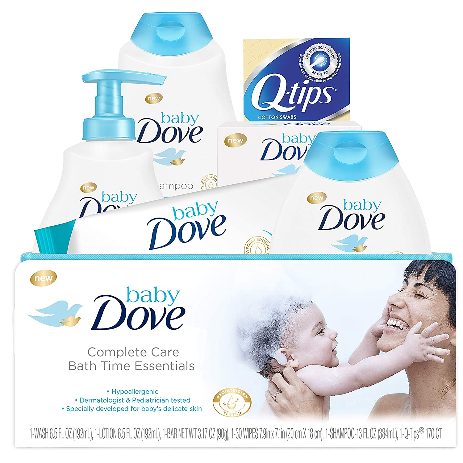 Baby Dove Complete Care Gift Set Bath Time Essentials 6 pc