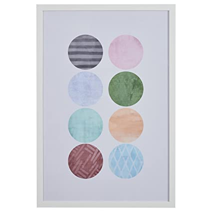 Amazon.com - Rivet Patterned Color Circles in White Frame, 26\