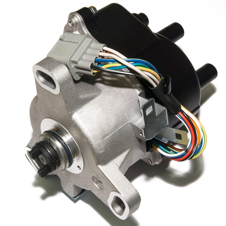 Brand New Compatible Ignition Distributor w/Cap & Rotor TD-63U TD63U for 99 00 HONDA CIVIC ACURA EL 1.5L 1.6L SOHC ACCORD 2.3L TD-73U TD-91U King Auto Parts
