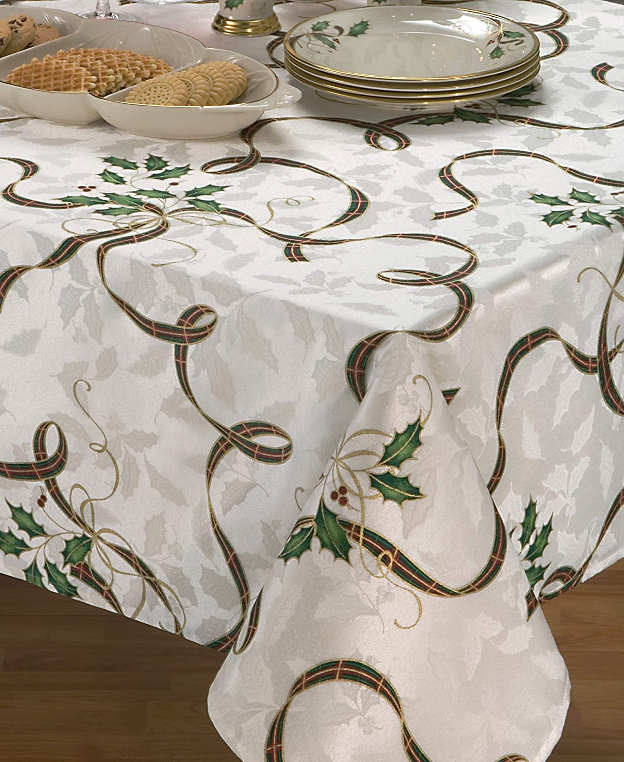Amazon.com: Lenox American By Design Holiday Nouveau Rectangular Tablecloth,  60 By 102 Inches: Home U0026 Kitchen