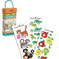 Melissa & Doug Poke-A-Dot Jumbo Number Learning Cards - 13 Double-Sided Numbers, Shapes, and Colors Cards with Buttons…
