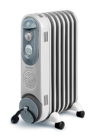 Sencor SOH 4007BE - Radiador eléctrico con llenado de aceite (4 ruedas, 230 V
