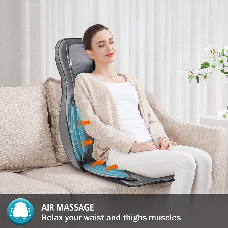 Akupressurmassage oder Luftkompressionsmassage der Comfier Shiatsu Massagesitzauflage