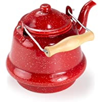 GSI Outdoors Small Tea Kettle for Over The Fire Camping (Red)