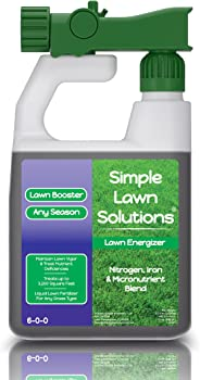Commercial Grade Lawn Energizer- Grass Micronutrient Booster with Iron & Nitrogen- Liquid Turf Spray Concentrated Fertilizer