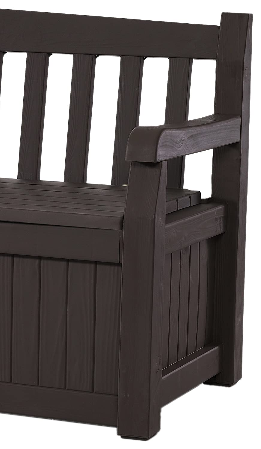keter eden 70 gal all weather outdoor patio storage bench. Black Bedroom Furniture Sets. Home Design Ideas